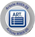 Réponse d'approbation à l'Article R323-25